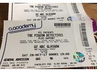 2 x Pigeon Detectives tickets, O2 Academy Glasgow