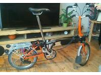 Brompton P6R with extended seatpost in great condition