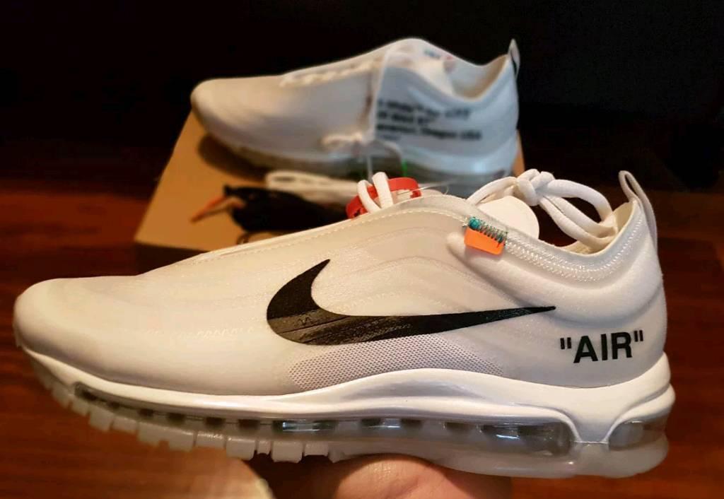 c56ea9d1adea Genuine Nike 97 off white with receipt.