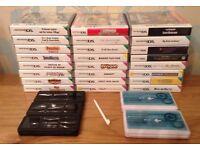 JOB LOT 24 Nintendo DS Games + 5 Travel Cases + 3 Styluses