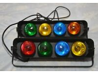 Disco Lights Micro-4 Mk,3 Lighting System X 2, plus 5 X spare bulbs.