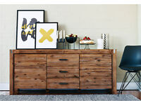 Buffet - Sideboard Hardwood 3 velvet lined full extention drawers and 2 cupboards