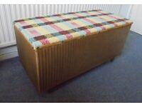 Vintage Lloyd Loom Ottoman, Chest, Trunk, Blanket Box