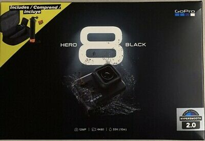 GoPro HERO 8 Black 4K Action Camera Bundle 2 Batteries, Handler Case SD Card