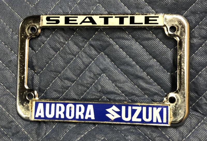 Vintage Seattle Aurora Suzuki Motorcycle Dealer Frame