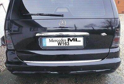 MERCEDES ML W163 2001-2005  Ladekanteschutz-Edelstahl  CR