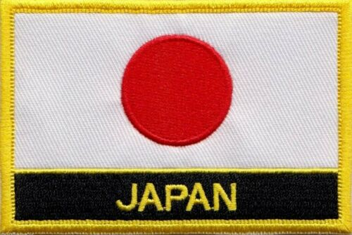 Japan Flag Embroidered Patch - Sew or Iron on