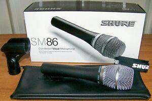 Brand New Shure SM86 SM 86 Cardioid Condenser Vocal Mic