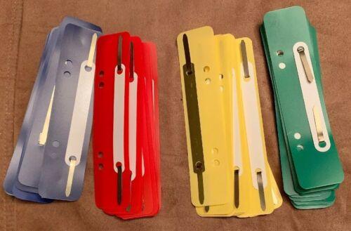 40 Stück Heftstreifen-Abheftstreifen aus Kunststoff farbig sortiert Aktendulli