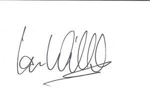 A-14cm-x-9cm-Plain-White-Card-Signed-by-Ian-Wilcox-Barnsley-Leeds-United-Bury