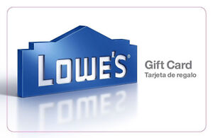 LOWE'S GIFT CARD LOWES CREDIT LOWES GIFT MERCHANDISE CARD FREE SHIPPING $411.86