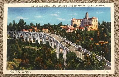 Arroyo Seco Colorado Street Bridge Pasadena California Postcard Antique (Pasadena Colorado)