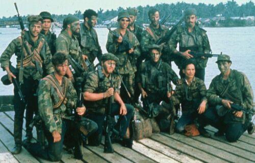 Vietnam War US Navy Seals Group Pic Unknown Hazey Glossy 8x10 Photo