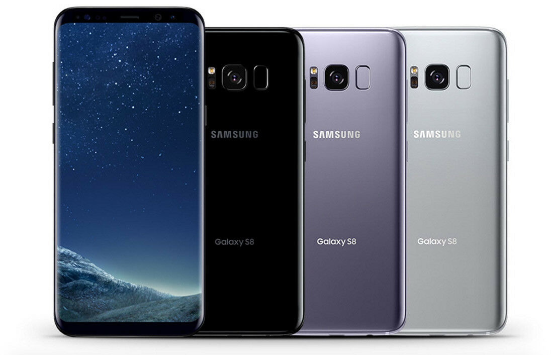 Android Phone - Samsung Galaxy S8 SM-G950U1 64GB T-mobile Verizon AT&T Sprint Unlocked B Shadow