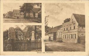 Minkwitz bei Leisnig, Gasthaus, Kriegerdenkmal, alte Ansichtskarte von 1942