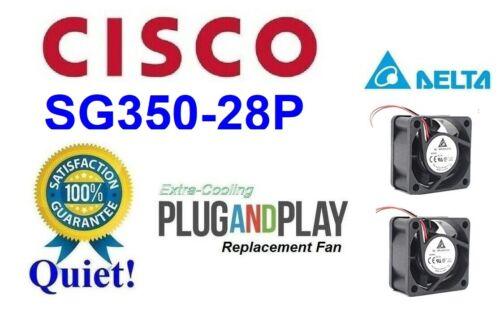 2x Quiet Version Replacement Fans for Cisco SG350-28P Low Noise Best HomeNetwork
