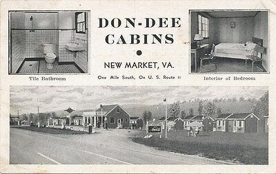 New Market VA * Don-Dee Cabins 1942 Tourist  Skyline Dr. Rt. 11