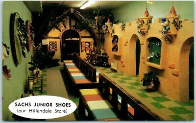 Vintage Maryland Advertising Postcard SACHS JUNIOR SHOES Hillendale Mall (Malls Maryland)