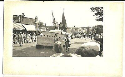 Real Photo Grand Haven  MI Michigan 1934 Parade  Columbus Boat Float