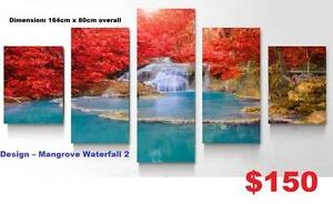 Mangrove Waterfall 2 -Modern Canvas Print Art Painting-with frame Baldivis Rockingham Area Preview