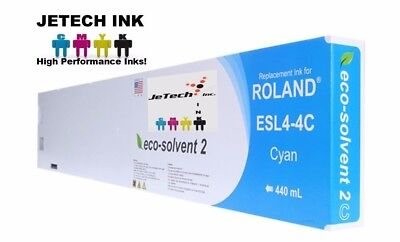 Roland Esl4-4 Eco-solvent Max2 Compatible 440ml Ink Cartridge - Cyan