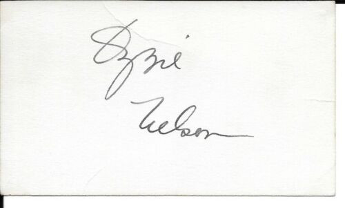 VINTAGE OZZIE NELSON AUTOGRAPH ON CARD.  PERFECT FOR MATTING.