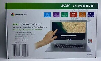 """NEW Acer Chromebook 15 CB315-2HT-47WG Silver 15.6"""" FHD IPS Touchscreen 1080P"""