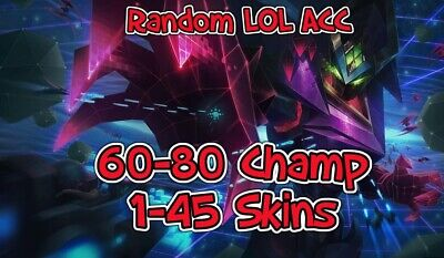 INSTANT Delivery ❤️ League of Legends Account    NA Server    60-80 Champions