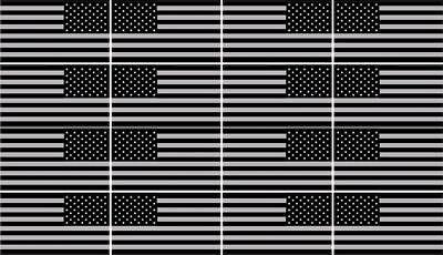 "16 AMERICAN TINY FLAG COMBO STICKERS 1/2"" X 1"" TINY BLACK GREY, usado segunda mano  Embacar hacia Argentina"