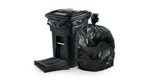 Plasticplace - W65LDBTL 64-65 Gallon Trash Can Liners for Toter │ 1.5 Mil │ Blac