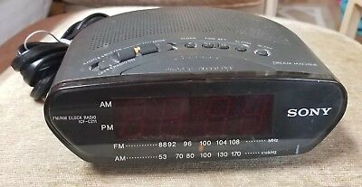 Sony Dream Machine ICF-C211 Alarm Clock AM FM Radio Snooze Sleep