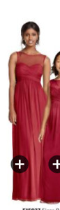 Apple red bridesmaid dress