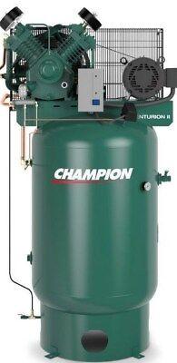 Champion Air Compressor Vrv10-12 10hp 120 Gal 3 Phase 230 Volt Cast Iron 34.8cfm