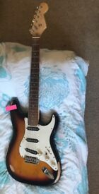 Fender Squier Stratocaster Electric Guitar (Right-Handed) in Sunburst with Customer-built Killswitch