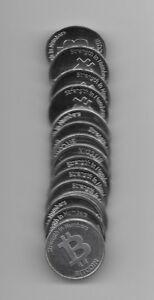 OFFICIAL CASASCIUS Aluminum Coin Token 2013 (Physical BIT COIN BTC)