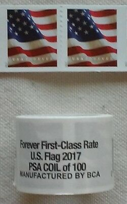 Mint ONE (1) Roll /Coil of 2017 US FLAG FOREVER USPS Postage Stamps  FV $50.00