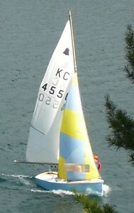 Vintage GP-14 Wood Sailboat Dinghy Complete and Ready to Use.