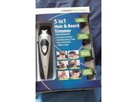 Men's 5 in 1 hair and beard trimmer with accessories