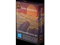 Adobe Illustrator CC 2017 Full Version PC/Mac Brand New