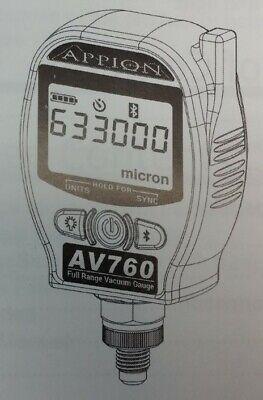 Appion Av760 Full Range Digital Wireless Vacuum Gauge