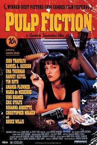 PULP FICTION MOVIE POSTER ~ REGULAR 24x36 Uma Thurman Quentin Tarantino