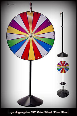 Carnival Spin to Win Prize Wheel with 6 Ft. Steel Knockdown Pole Floor Stand