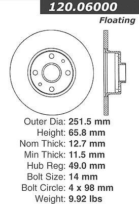 Premium Rotor-Preferred fits 1976-1982 Lancia Beta Zagato Beta,Zagato