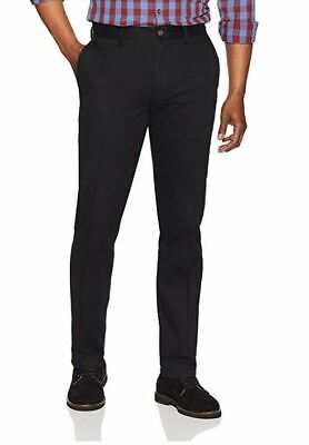 NWOT Essentials Men's Slim-Fit Wrinkle-Resistant Flat-Front Chino Pant 36W X 31L (Wrinkle Resistant Chino)