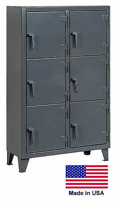 Personnel - Personal Locker Coml Industrial - 6 Lockers - 68 H X 18 D X 42 W