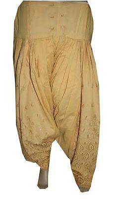 Beige Indian Readymade Ethnic Punjab Suit PATIALA/ Patiyala SALWAR Women Pants, used for sale  Shipping to United States