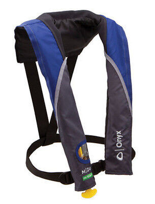 - Onyx M 24 In-Sight Inflatable Life Jacket Personal Flotation Device PFD Blue