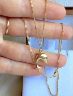 9ct Yellow Gold Dolphin  Pendant (Chain not included) Bunbury 6230 Bunbury Area Preview