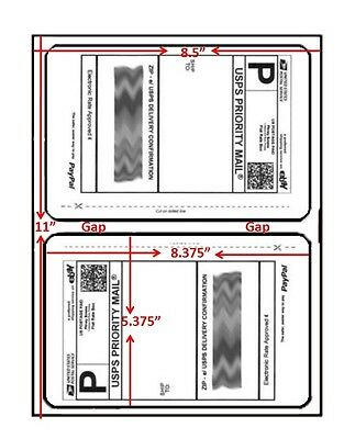 200 Easy Peel Shipping Labels 2page Round Corner New