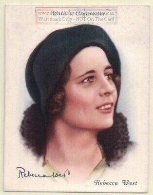 Rebecca West English Author Novelist Journalist  Writer 1930s Ad Trade Card ()